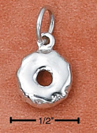 Silver donut charm