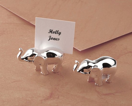Elephant place card holder