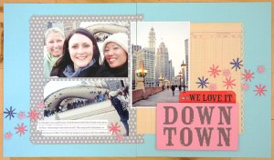 Downtown scrapbook page