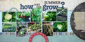 garden scrapbook page