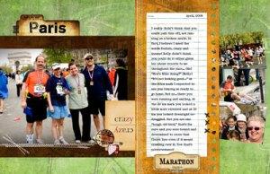 Paris Marathon scrapbook page